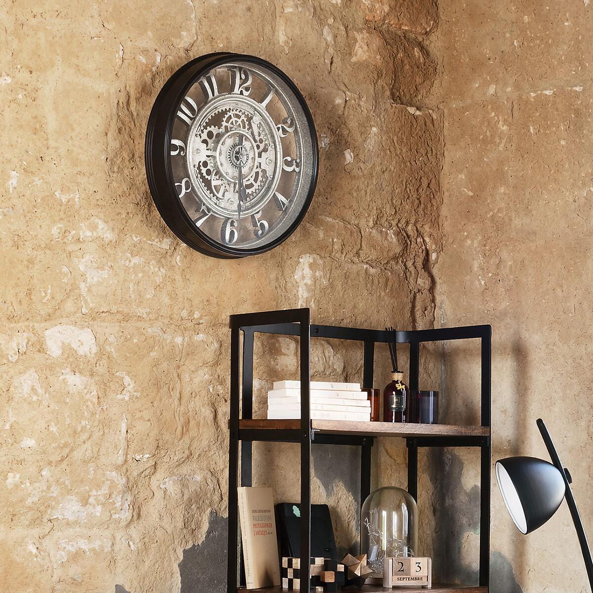 Horloge 'Mécanisme' D51 cm gris