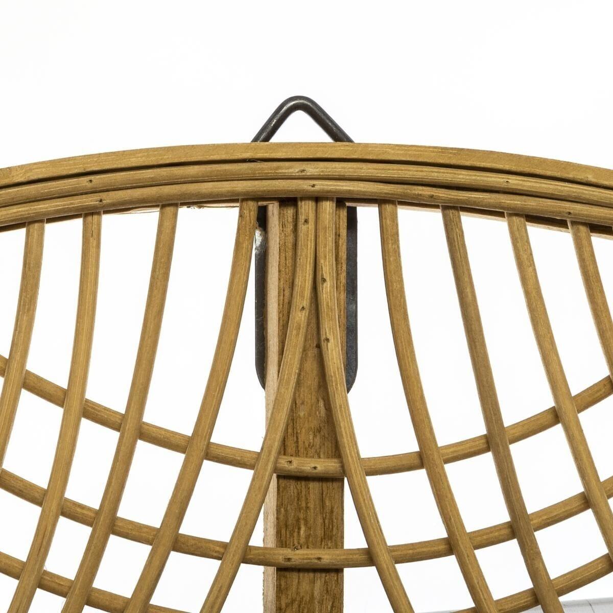 Miroir 'Ina', bambou D70 cm beige