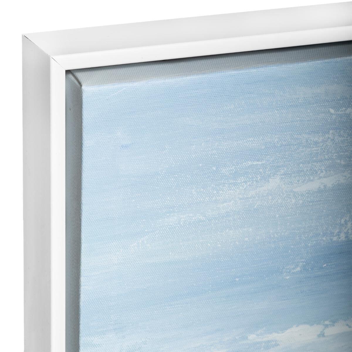 Toile peinte 'Abstrait' encadrée 78x78 cm bleu