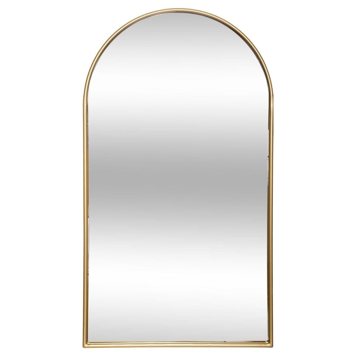 Miroir 'Joyce' doré, métal 60x106 cm doré