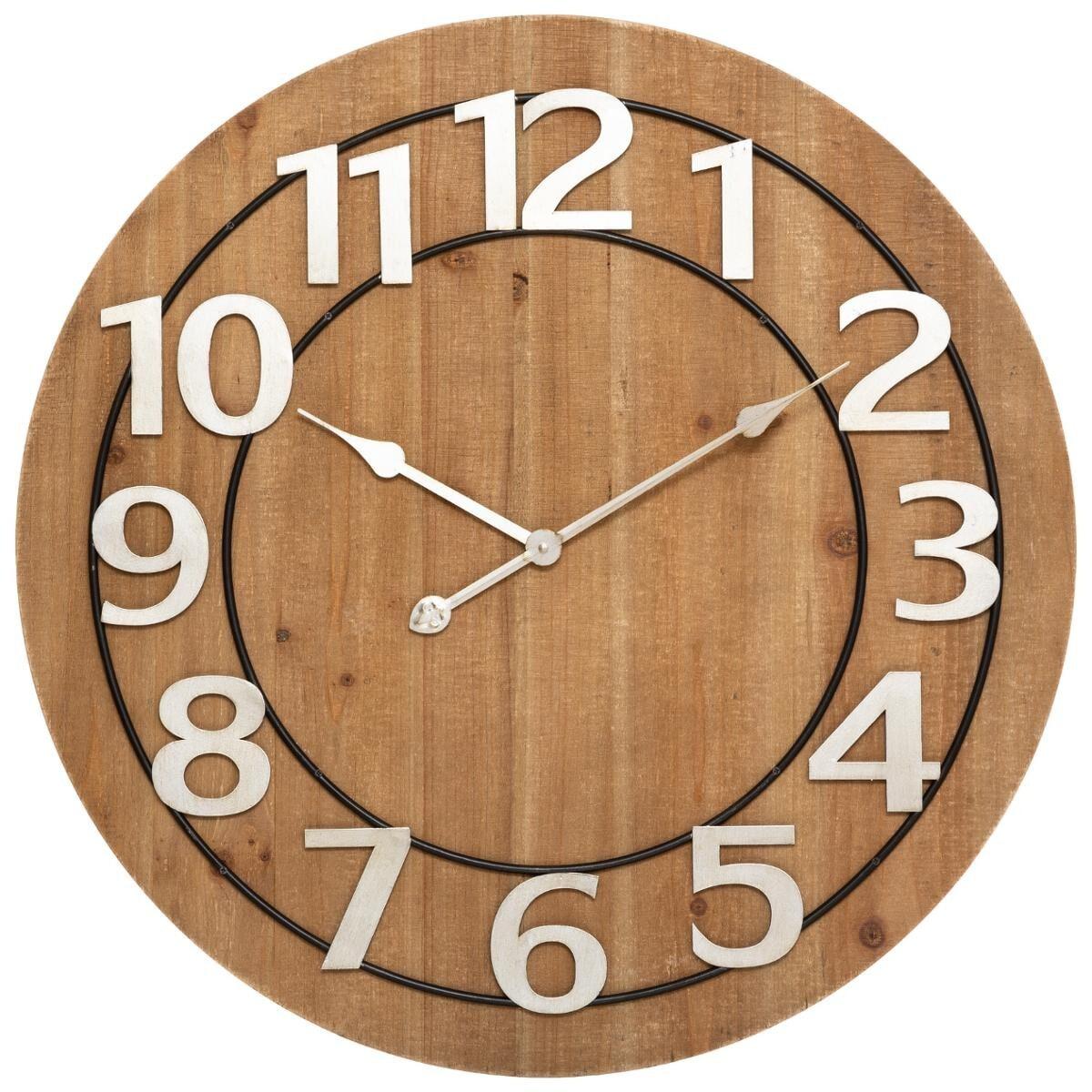 Horloge 'Hailey' D68 cm marron