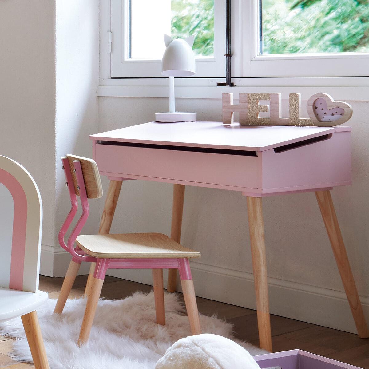 Chaise enfant ' Rétro' rose rose