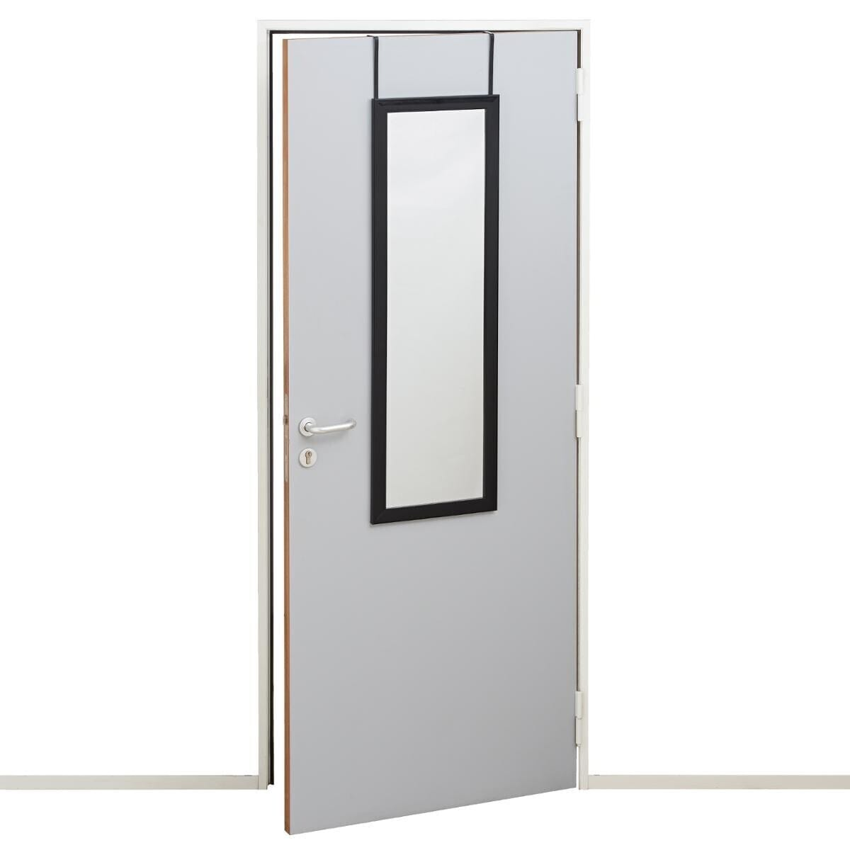 Miroir de porte noir class 36x110 atmosphera for Miroir de porte
