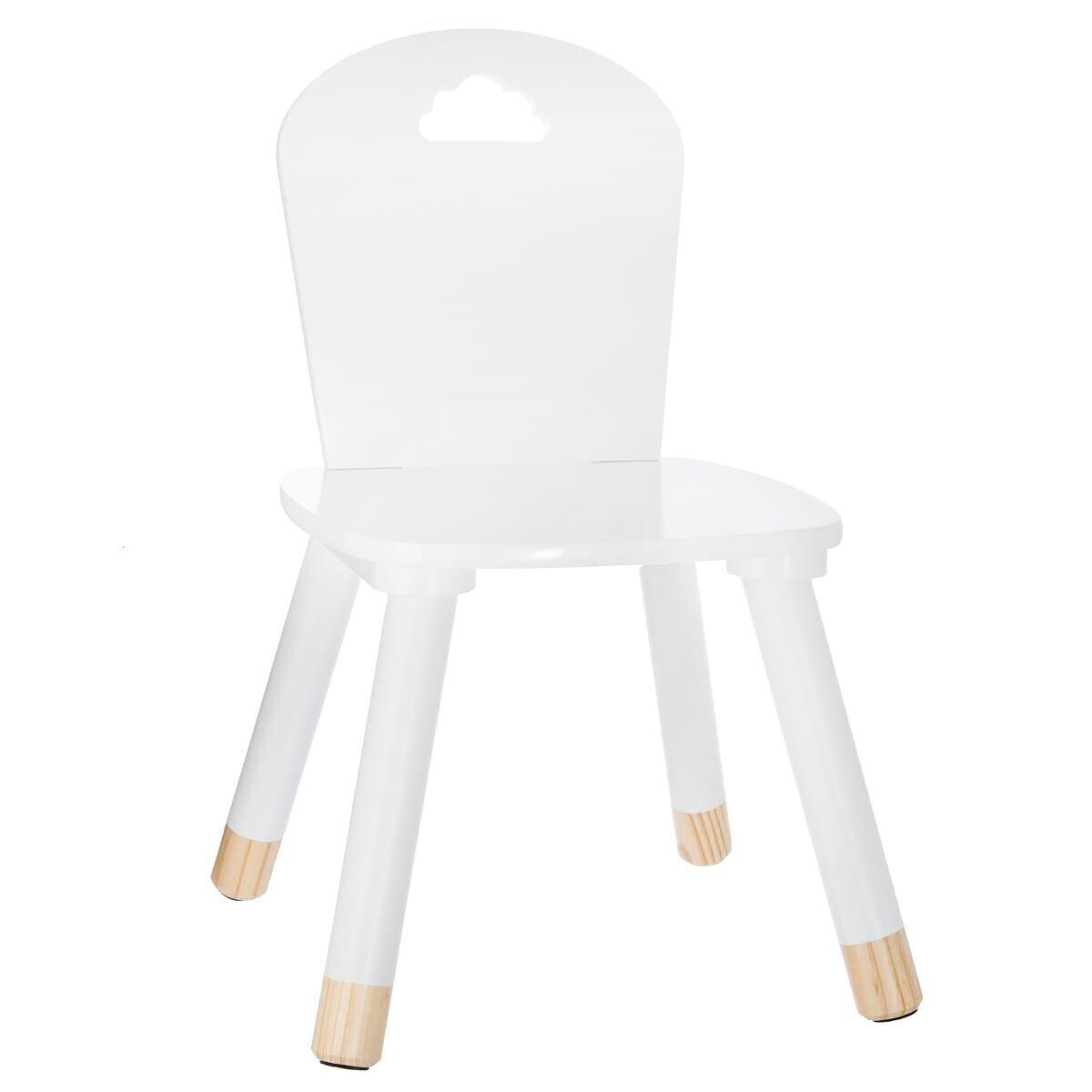 chaise blanche douceur atmosphera. Black Bedroom Furniture Sets. Home Design Ideas